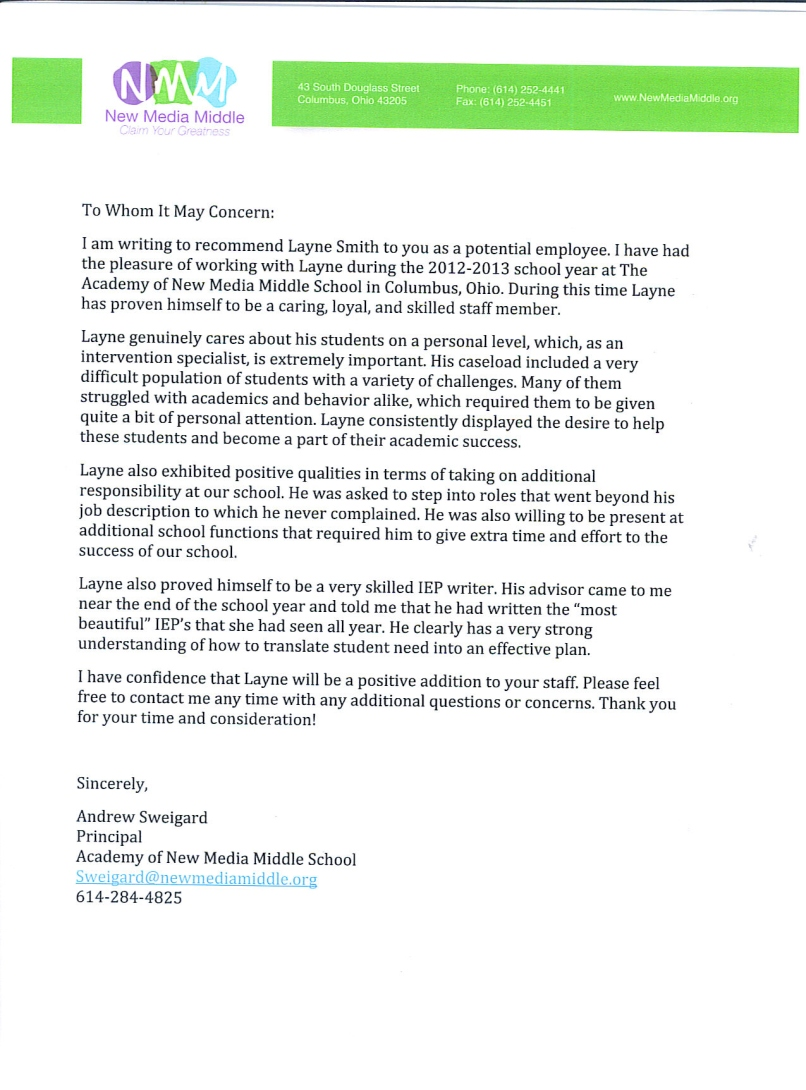 middle school teacher recommendation letter maggilocustdesignco recommendation letter sample for student of college